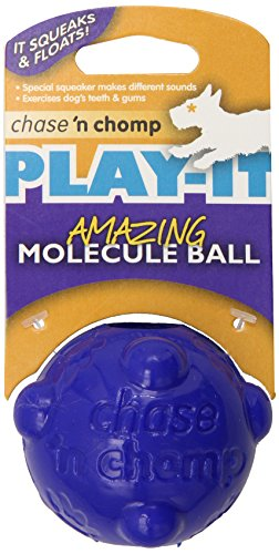 Chase 'n Chomp Amazing Molecule Squeaker Ball Toy for Pets, 2.5-Inch