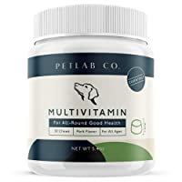 Petlab Co. Multivitamin Chews | Chewable Dog Treats Supplement, Packed Vitamins to Promote A Healthy Canine Coat Skin, Support Immune System Maintain Muscle and Joint Health | Zinc Copper Manganese