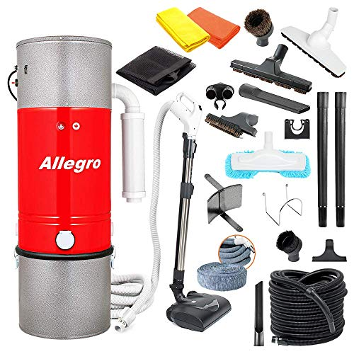 Allegro Central Vacuum Most Powerful System Top of The Line Complete Wessel-Werk Electric Power Nozzle, Hose, Garage Kit and Deluxe Attachments (1, 35 ft Direct Connect)