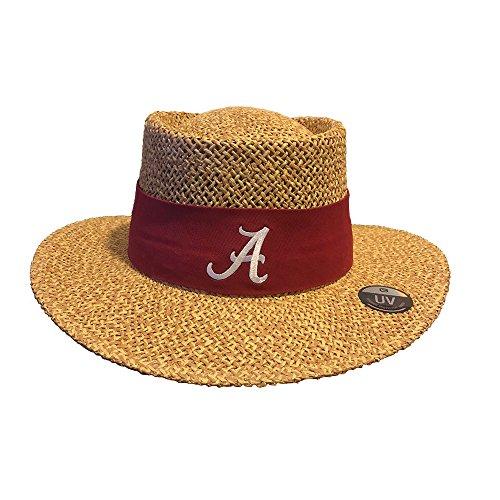 - Alabama Crimson Tide Tournament Straw Gambler Hat