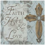 Thirstystone Occasions Trivet, Faith, Hope and Love Cross, Multicolor