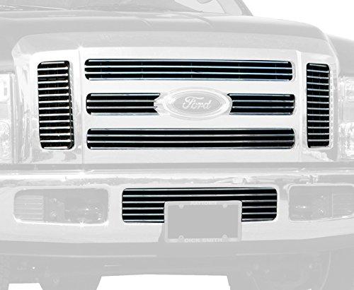 Carriage Works Truck Part (Carriage Works 43862 Polished Billet Aluminum Bolt-Over Grille)