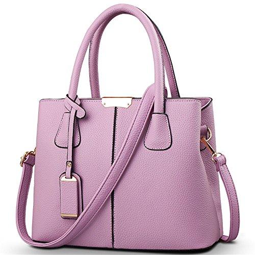 Satchels Cross Purple Top Size Women's Bag Medium Bowling Body Handle Purse HerHe Handbags 7FapT
