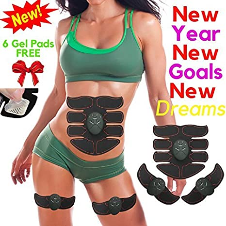 Objective Waist Arm Leg Muscle Trainer Ems Muscle Stimulator Fitness Equipment Abdominal Training Pad Rechargeable Abdomen Muscle Toner Sports & Entertainment Vibration Fitness Massager