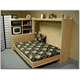 Build Your Own Horizontal Murphy Bed Plan Queen Size Wall Bed Plans DIY Furniture