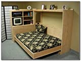 Horizontal Murphy Bed Plan Queen Wall Bed Plans DIY Furniture Build Your Own