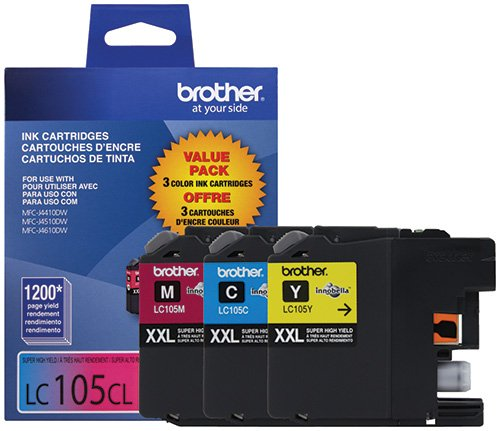 (Brother Genuine LC1053PKS Super High Yield XXL Ink Cartridges)