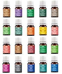 Aromatherapy Top 20 Essential Oil Set 5 ml. Pure Therapeutic Grade 14 Singles - 6 Blends