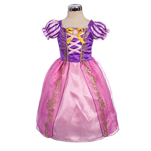 Dressy Daisy Baby-Girls' Princess Rapunzel Dress up Fairy Tales Costume Cosplay Party Size 18-24 Months for $<!--$13.99-->