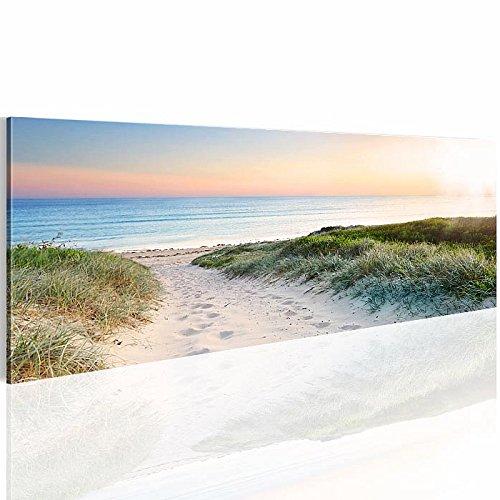 Bilder & Kunstdrucke Prestigeart, 900011a Bild auf Vlies Leinwand, 'Meer', 110 cm x 40 cm 1 Teilig