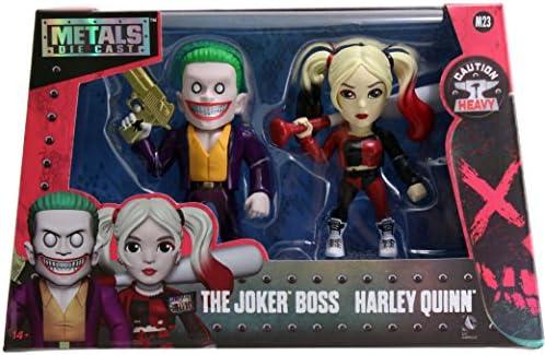 "Jada métaux Suicide Squad film Twin Pack Joker BOSS /& Harley Quinn M23 4/"" 97571"