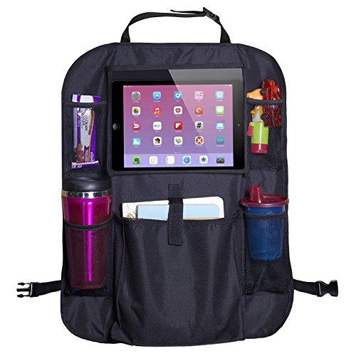 Saturn Boards Organizador de Asiento Trasero de Coche para iPad Tablet Soporte Universal Fit Multi Bolsillos fácilmente Lavable 2 Paquetes
