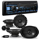 Alpine UTE-73BT Receiver with Bluetooth & A Pair of Alpine S-S65C 6.5' Component Speakers & S-S69 6x9 Coaxial Speakers