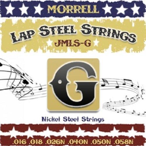 Morrell JMLSG Premium 6-String Lap Steel Guitar Strings for G Tuning 16-58 (3-Pack)