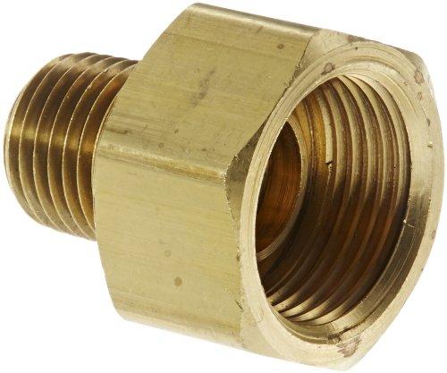 - Eaton Weatherhead 202X8X4 Brass CA360 Inverted Flare Brass Fitting, Adapter, 1/4