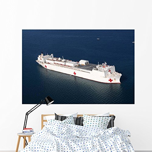 Usn Cross (Usns Comfort Is Anchored Wall Mural by Wallmonkeys Peel and Stick Graphic (72 in W x 48 in H) WM267123)