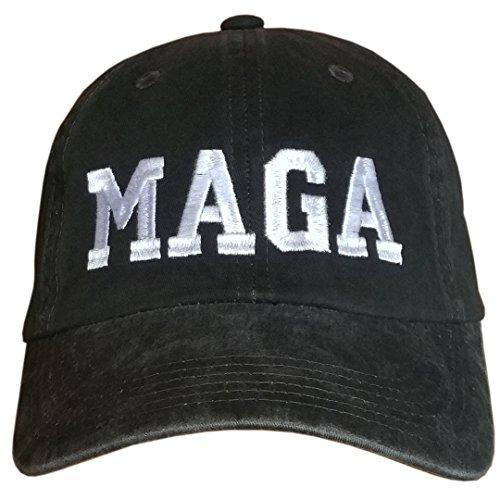 - MAGA Black/White~Make America Great Again HAT #AmericaFirst #DrainTheSwamp #DTS