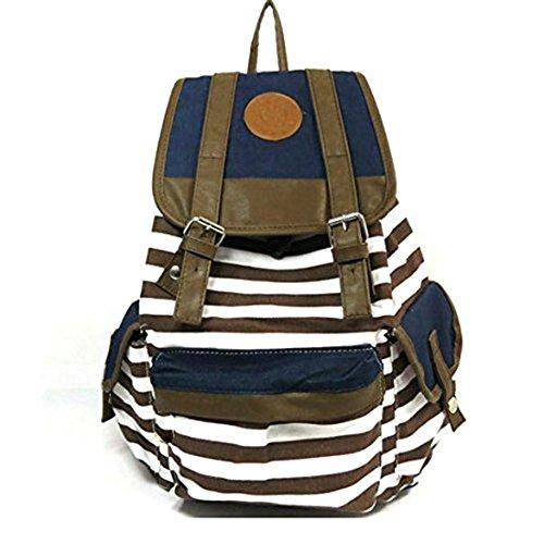 Haifly - Bolso mochila  para mujer azul Marrón