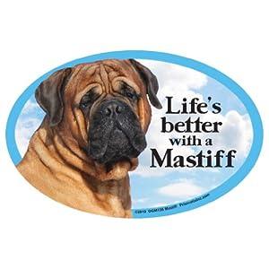 Prismatix Mastiff Oval Dog Magnet for Cars 1