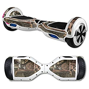 MightySkins Skin Compatible with Hover Board Self Balancing Scooter Mini 2 Wheel x1 Razor wrap Cover Sticker Steam Punk Room