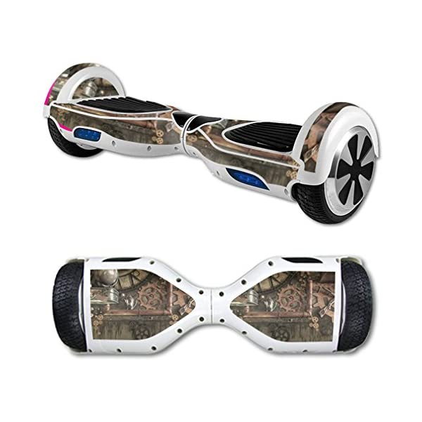 MightySkins Skin Compatible with Hover Board Self Balancing Scooter Mini 2 Wheel x1 Razor wrap Cover Sticker Steam Punk Room 3