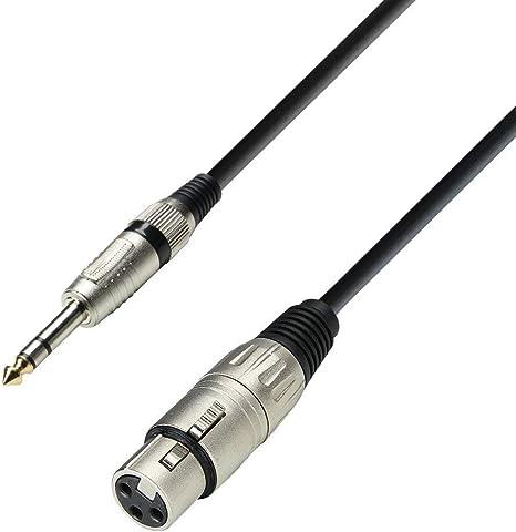 Audiokabel 3,5 mm Klinke stereo auf 2 x XLR Stecker 1 m Adam Hall Cables K3
