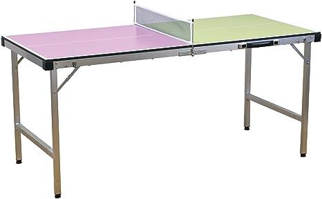Time Concept Vacances Juego de tenis de mesa portátil – Tabla plegable, 2 palas, 3 pelotas de ping pong – Juego para exteriores: Amazon.es: Deportes y aire libre
