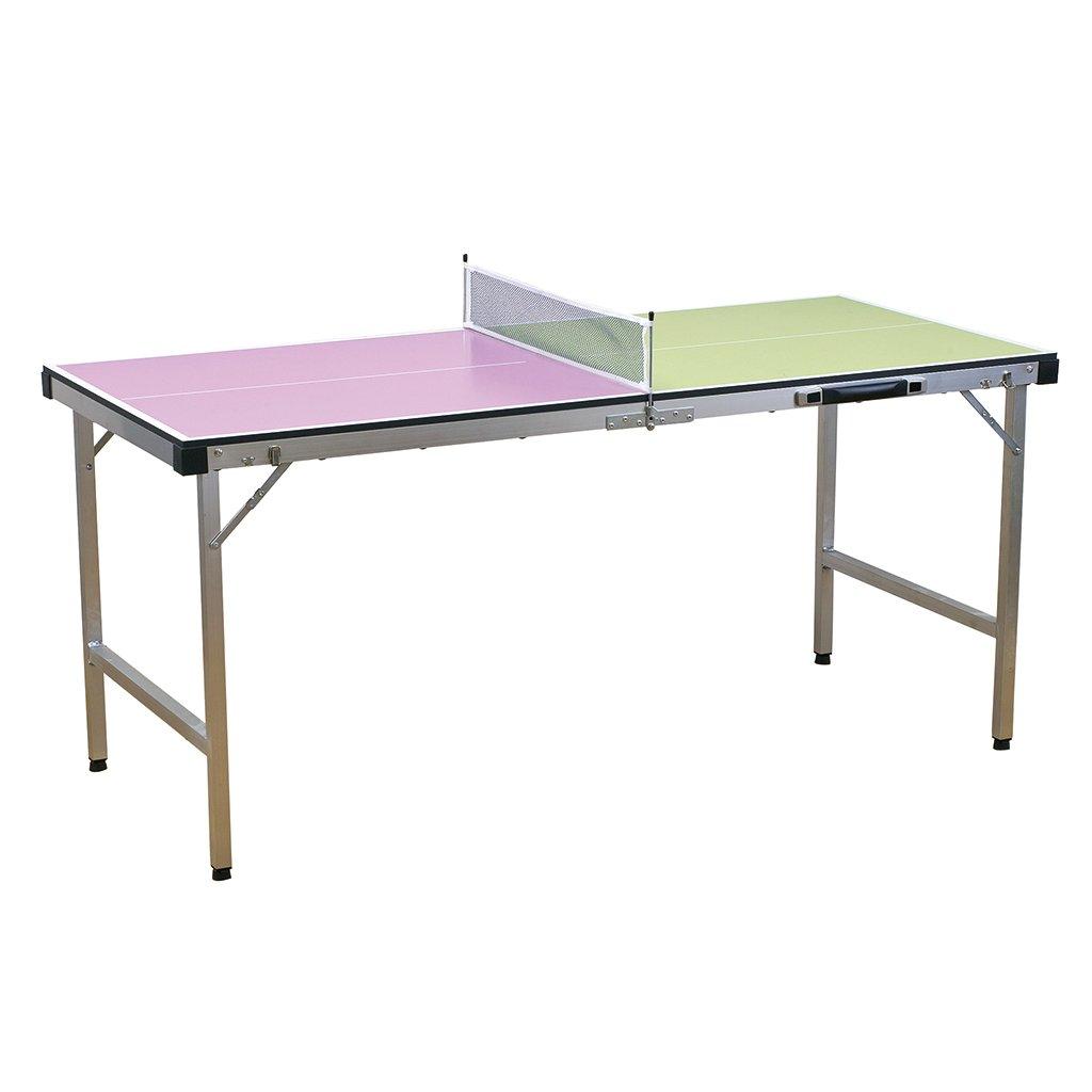 時間概念Vacancesポータブルテーブルテニスセット – 折りたたみ可能なボード、2 Paddles、3 Ping Pong Balls – マルチカラー B07BZVB11H