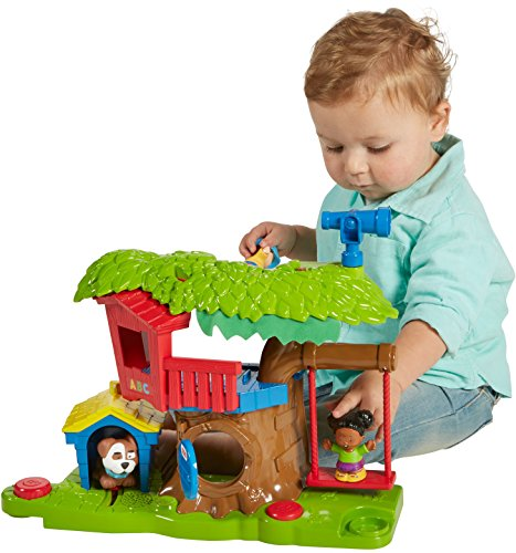 Fisher-Price Little People Swing & Share Treehouse Playset ...