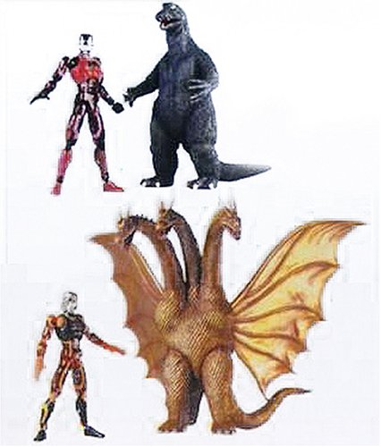 [Microman Micronaut KM-SP01 Godzilla 1964 VS King Ghidrah Ghidora by Takara Tomy] (Ghidorah Costume)