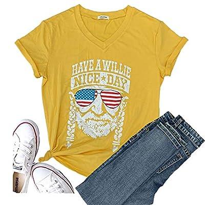 Hellopopgo Women Faith Family Freedom USA American Flag Lips Shirt Short Sleeve Graphic Tees Funny T Shirts Summer Tops