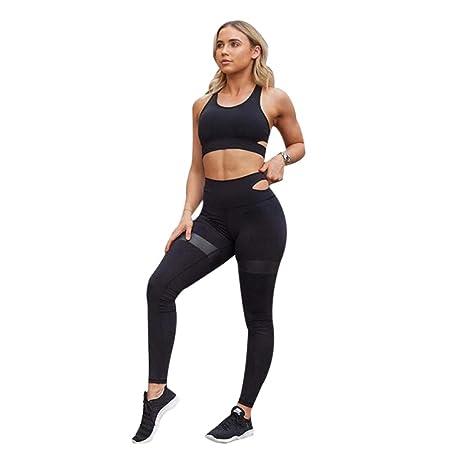 LiXiZhong Conjunto De Pantalones De Yoga para Mujeres, Juego ...