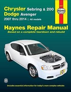 amazon com chrysler sebring 200 dodge avenger chilton repair rh amazon com 08 Dodge Avenger Repair Book 08 Dodge Avenger Repair Book