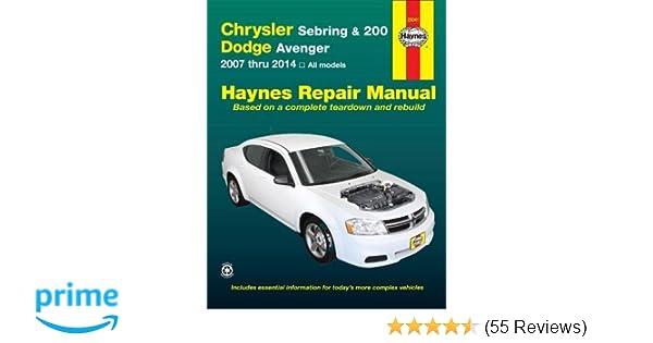 Chrysler sebring 200 and dodge avenger 2007 thru 2014 all models chrysler sebring 200 and dodge avenger 2007 thru 2014 all models haynes repair manual editors of haynes manuals 9781620920893 amazon books fandeluxe Images