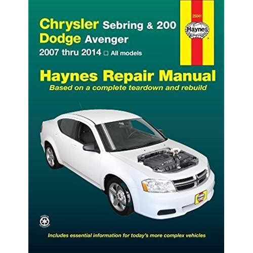 chrysler sebring 200 and dodge avenger 2007 thru 2014 all models rh amazon com Cigarette Charger Not Working in 2012 Dodge Advenger 2006 Dodge Dakota Rear Drum Brake Diagram