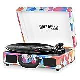 Victrola Vintage 3-Speed Bluetooth Suitcase Turntable with Speakers, Geo Print