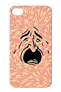 Weeping Crying Face Of Man With Tears Black Dustproof Funny Weeping Face Satire Crying Protective Hard Case For Iphone 4/4s