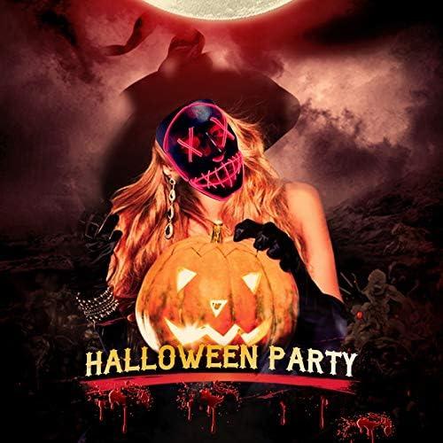 51JGN13bM1L. AC  - ASON Halloween Scary Mask Cosplay Led Costume Mask