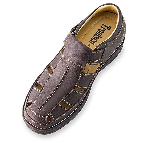 Masaltos Scarpe con Rialzo per Uomo Che Aumentano l'Altezza Fino a 7 cm. Modello Sandalia. Marrone Envío Bajo En Línea Tienda De Espacio Libre Para La Venta Precio Barato De Italia Eastbay Precio Barato Venta Precio Barato fbO61udC6i