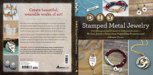 DIY Stamped Metal Jewelry: From Monogrammed Pendants to Embossed Bracelets--30 Easy Jewelry Pieces from HappyHourProjects.com!