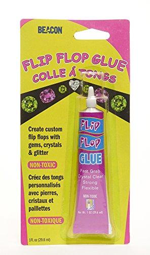 Flip Flop Glue - Beacon Flip Flop crystal clear , flexible and Non - toxic glue ,1 Oz