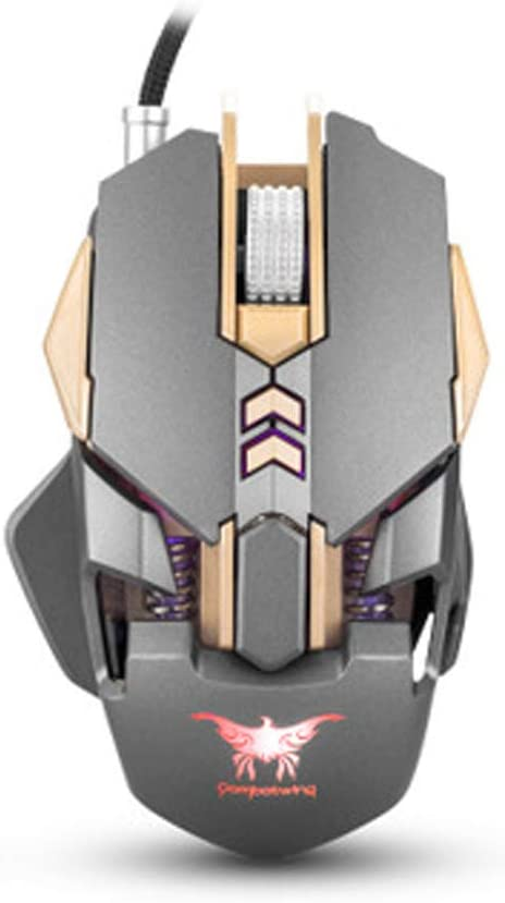 Mouse Gaming, Wired Programmable Led Backlit, Ergonomic Design, DPI Mode, USB PC Gaming Mice,Laptop Computer 2.4G,A