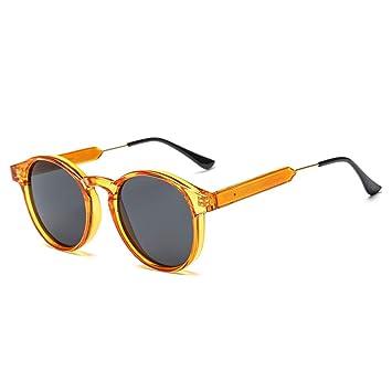 LETAM Gafas de sol Gafas de Sol Redondas para Hombres ...