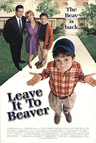 Leave It to Beaver 1997 Authentic Original Movie Poster Rolled Fine, Very Fine Christopher