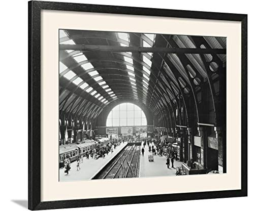 - ArtEdge Kings Cross Station, Camden, London, 1970 Wall Art Framed Print, 24x32, Black Soft White Mat