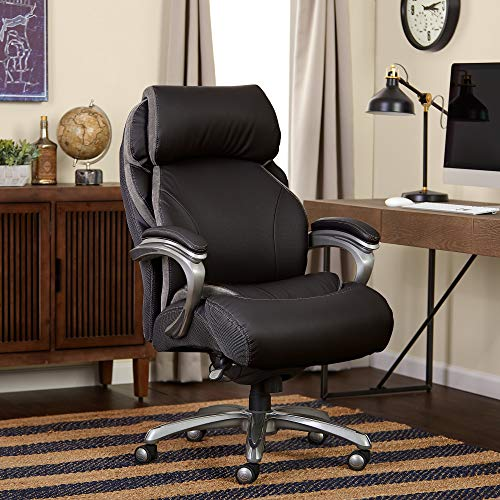 Serta Big and Tall Smart Layers Tranquility Executive Office Chair with AIR Technology, Black (Serta Big And Tall Commercial Office Chair)