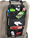 High Road TissuePockets Car Seat Organizer and Tissue Holder (Black)