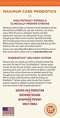 NatureWise Maximum Care Time-Release Probiotics: 30 Strains, 30 Billion CFU, Twice as Many Strains and Probiotics per Caplet