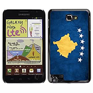 Shell-Star ( National Flag Series-Kosovo ) Snap On Hard Protective Case For Galaxy Note / i717 / T879 / N7000 / i9220