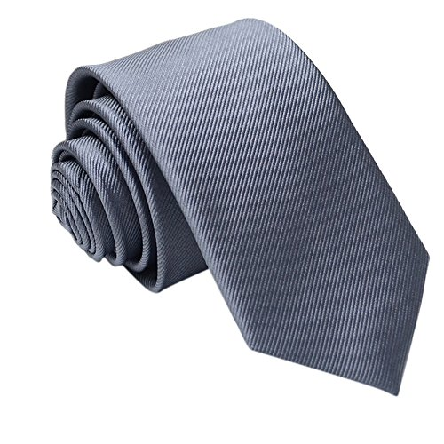 Gifts For Men ! Charberry Mens Trendy Solid Color Tie Casual Slim Plain Mens Solid Skinny Neck Party Wedding Necktie (G) from Charberry